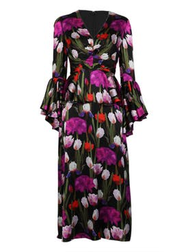 Borgo De Nor - Floral Bell Sleeve Dress - Women