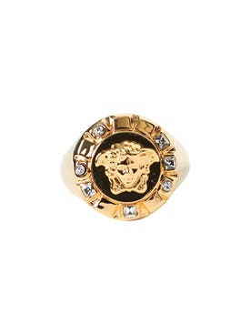 Versace - Medusa Head Gold Tone Ring - Men