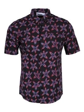 Navy Floral Button Down Shirt