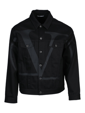 VLTN black denim jacket