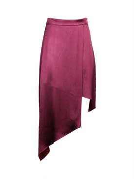 Cushnie - Asymmetric High Waisted Skirt Rose Mauve Azalea - Women