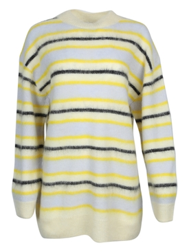 Striped alpaca wool sweater
