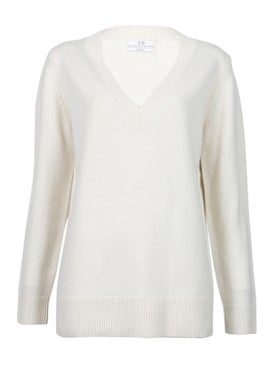 Co - Ivory V-neck Sweater - Women