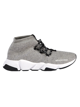 Grey lace-up speed trainers