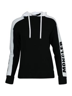 Black and White Hooded Jumper