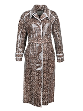 Patent Python trench coat