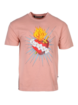 Palm Angels - Pink Sacred Heart T-shirt - Men