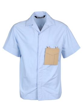 Palm Angels - Light Blue Sacred Heart Button Down - Men