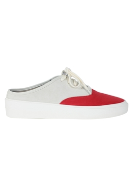 101 Backless Sneaker BONE/RED