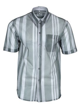 Oamc - Grey Mesh Button-down Shirt - Men