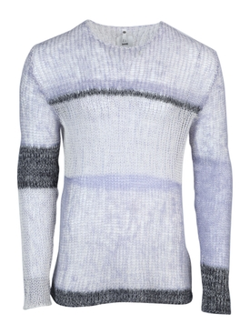 Oamc - Blue And Grey Knit Sweater - Men