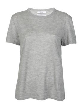 Co - Grey Cashmere T-shirt - Women