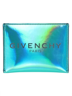 Givenchy - Iridescent Turquoise Logo Card Holder - Men