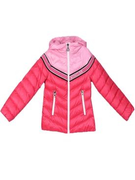 Kids pink logo puffer jacket