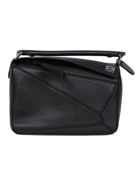 Loewe - Black Pebbled Puzzle Bag - Women