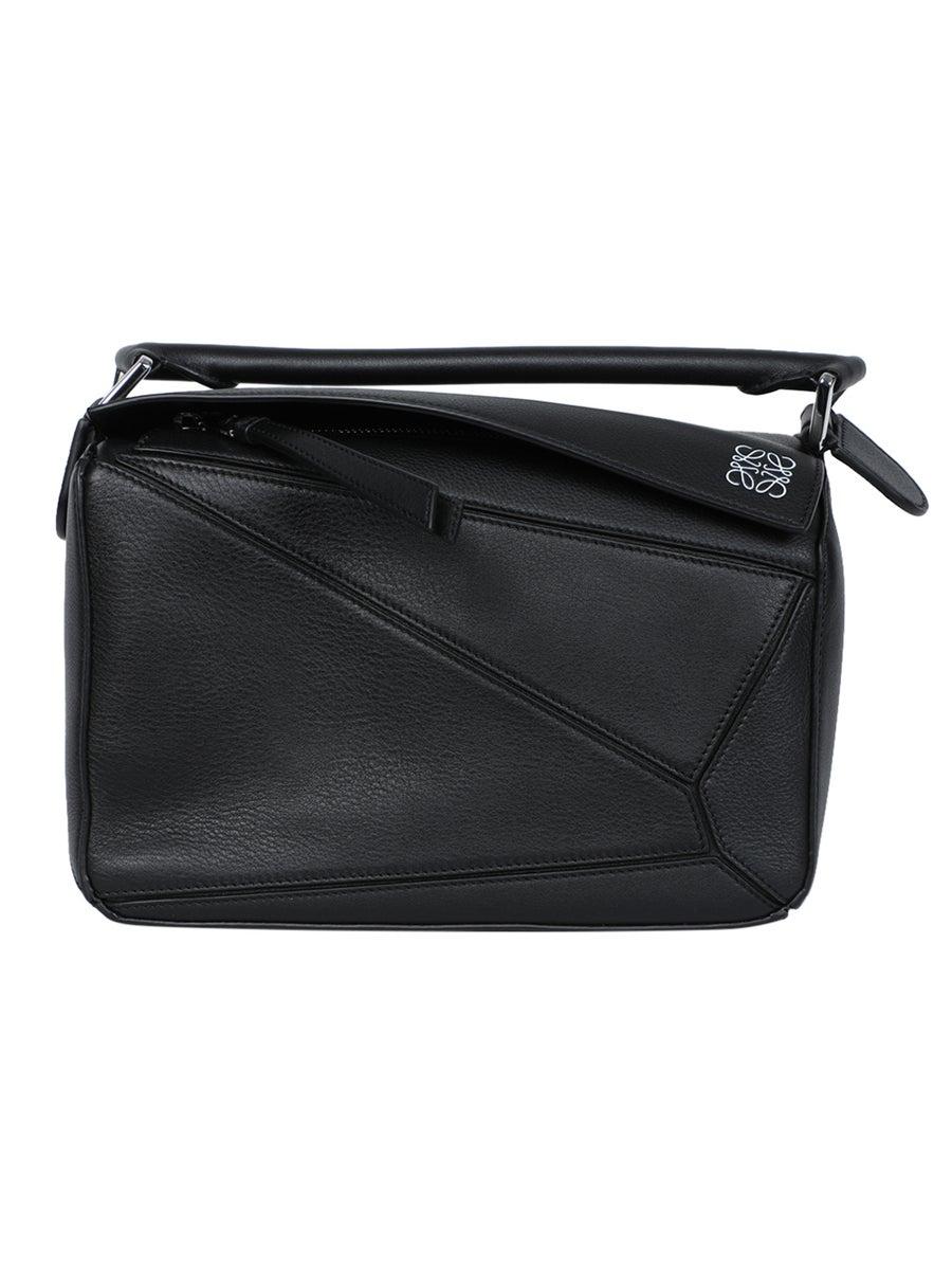 Loewe Black Pebbled Puzzle Bag