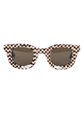 X RHUDE checkered rodeo sunglasses