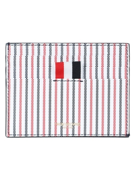 Thom Browne - Striped Leather Card Case - Men