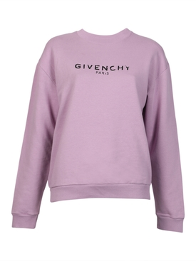 Distressed purple sweatshirt