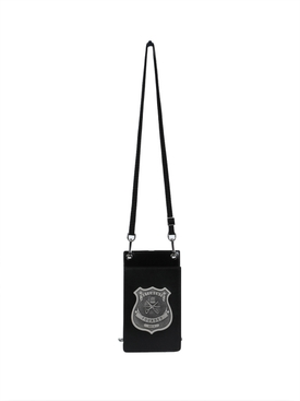 Police badge cardholder necklace