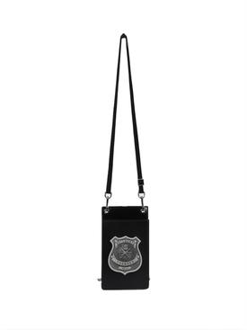 Police badge cardholder necklace