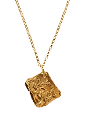 Alighieri - 24kt Gold-plated Bronze Dragon Necklace - Women