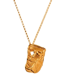 24kt gold-plated bronze ox necklace