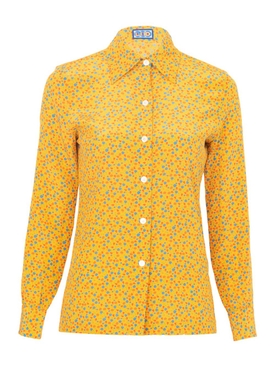 Lhd - Sunny Floral Star Island Shirt Yellow - Women