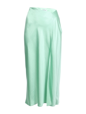 Alexanderwang.t - High-waisted Midi Skirt Green - Women