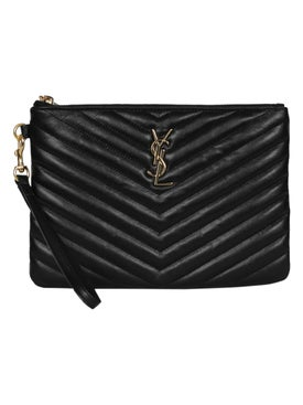 Saint Laurent - Ysl Monogram Clutch Black - Women