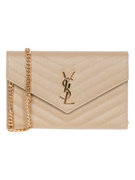 Saint Laurent - Ysl Envelope Chain Wallet Dark Latte - Women