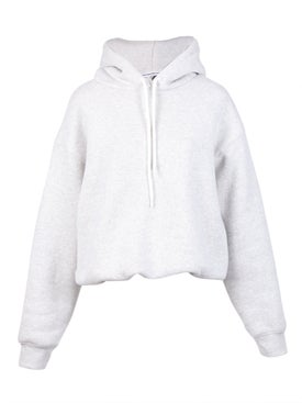 Alexanderwang.t - Dense Fleece Bubble Hoodie Light Grey - Women