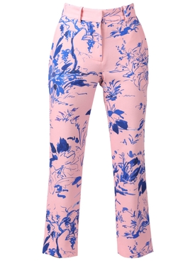 WILLA PRINTED CREPE CROPPED PANT