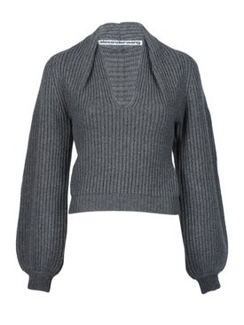 Alexanderwang - Rubbed Pullover With Draped Details - Women