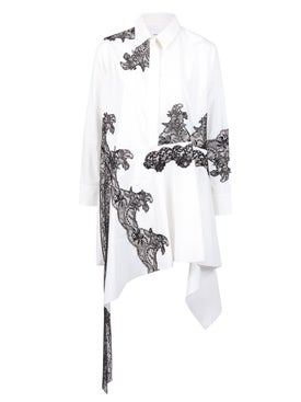 Marques'almeida - Lace Insert Asymmetric Shirt Dress - Women