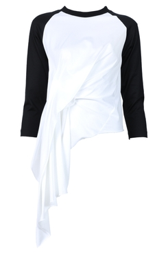 Draped raglan t-shirt