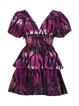 Fausto Puglisi - Dusk Beach Print Dress, Purple - Women