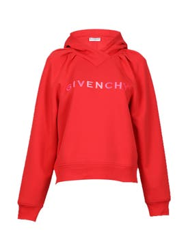 Givenchy - Logo Block Hoodie, Red - Women