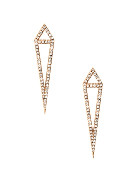 18kt rose gold dagger stud earrings