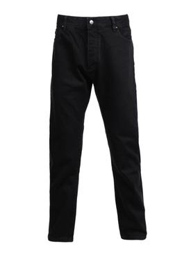 Black printed logo jeans