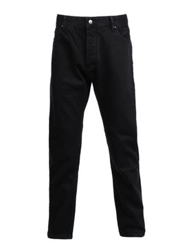 Palm Angels - Black Printed Logo Jeans - Men