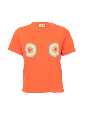 Lhd - Daisy Logo T-shirt, Orange - Women
