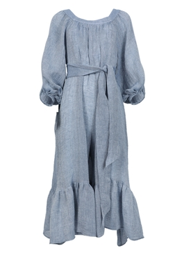 Lisa Marie Fernandez - Laure Blue Linen Jumpsuit - Women