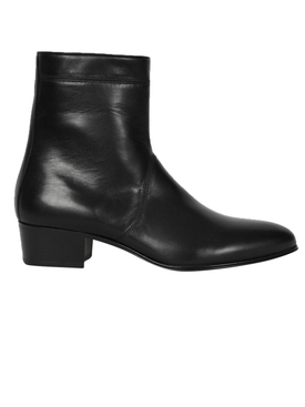 black shiny dylan boots