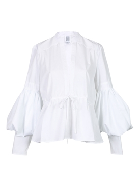 Rosie Assoulin - Lantern Sleeve Top White - Women