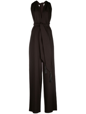 Brown halter jumpsuit