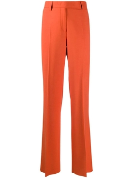 Orange straight leg pants