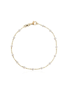 18kt Yellow Gold Pearl Link Bracelet