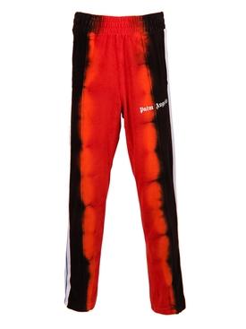 Tie-dye track pants RED