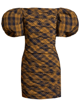 Shelly Brown Check Print Dress